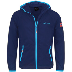TROLLKIDS Fjell Running Jacket Kids, navy/medium blue